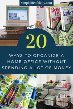 You don't need expensive items to organize your home office. Here's how you can have one just within the budget!