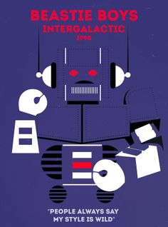 Beastie Boys - Intergallactic Rap Poster Series