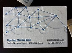 Networking Letterpress Business Card by dolcepress, via Flickr