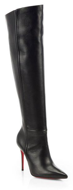 Christian Louboutin Armurabotta 100 Leather Over-The-Knee Boots