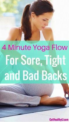 4 Minute Yoga Flow For Bad Low Back | More Info : http://shapeshifteryoga.changeyourlife.work
