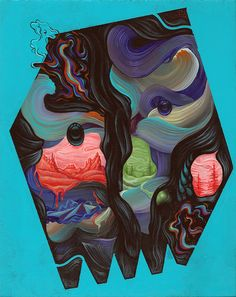 Anthony Hurd Painting Collage, Day Work, Abstract, Creative, Illustration, Artist, Mood, Summary, Artists