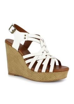 Dolce by Mojo Moxy White Safara Wedge
