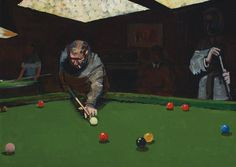 Ruskin Spear (1911-1990) No Smoking (The Pool Player)