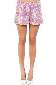 Beige & Pink Python Shorts at Blush Boutique Miami - ShopBlush.com