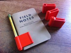 Clever home 3D printed pencil & notebook holder from Everything I Make With My MakerBot