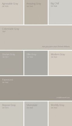 11 most amazing best gray paint colors Sherwin Williams. 11 most amazing best gray paint colors Sherwin Williams. Interior Paint Colors, Paint Colors For Home, House Colors, Paint Colours, Wall Painting Colors, Interior Design, Painting Doors, Painting Tips, Interior Painting Ideas