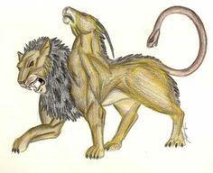 SciFi and Fantasy Art Greek Chimera by Tina Ponzetti Magical Creatures, Fantasy Creatures, Fantasy World, Fantasy Art, Manticore, Cryptozoology, Mythological Creatures, Sci Fi Art, Mythology
