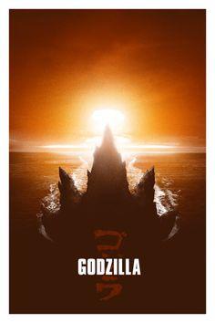 CIA☆こちら映画中央情報局です: Godzilla News : ハリウッド版3D超大作「ゴジラ」をテーマに、グラフィック・アーティストたちが独自のスタイルで描いたファン・アートのオルタナティブ・ポスター・ギャラリー Part - Ⅰ - 映画諜報部員のレアな映画情報・映画批評のブログです
