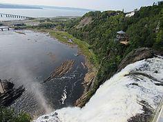 La Chute de Montmorency, près de Québec