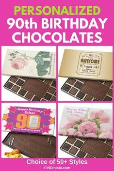 90th Birthday Chocolate Boxes