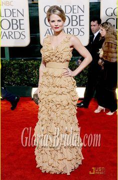 Jennifer Morrison Backless Evening Dress 2010 Golden Globe Red Carpet GBD4258 - Glorias Bridal