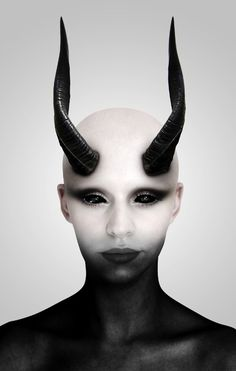 Editor& Pick in Photoshop Tutorials In this tutorial you& learn how to transform a girl into a demon. You& learn how to to remove hair, darken and lighten skin, and blacken eyes all in Photoshop. Sfx Makeup, Costume Makeup, Demon Costume, Demon Makeup, Succubus Costume, Horns Costume, Maleficent Costume, Adobe Illustrator, Portrait Retouch