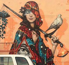 Tristan Eaton + Esao Andrews detail in Los Angeles, 1/15 (LP) - Esao Andrews rocks my world.