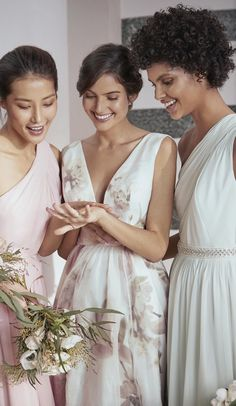 TIE THE KNOT: Picture-perfect pastel bridesmaids, thanks to Ted's PETRRA maxi dress. #WedWithTed