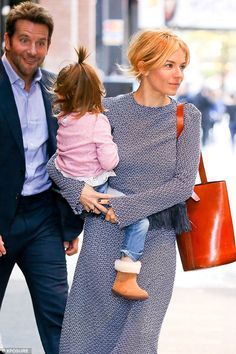 Uncle Bradders! It seems that actress Sienna Miller, 33, is just as close with Bradley Cooper, 40, off-screen as the actor was spotted making funny faces at her daughter as they left their hotel together on Tuesday