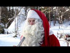 Interview après Noël du Père Noël à Rovaniemi en Laponie