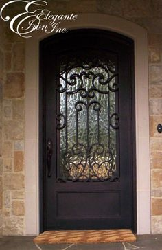 Custom wrought iron front door. & tuscan style wrought iron doors | Double Iron Doors | Entry ...