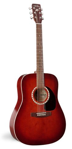 Art and Lutherie: Spruce burgundy dreadnaught guitar