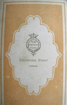 Back Of Carte De Visite Kristijan Pajer