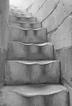 passage of time...Leaning Tower of Pisa steps