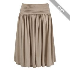 Farhi by Nicole Farhi Ruched Waistband Skirt, Taupe
