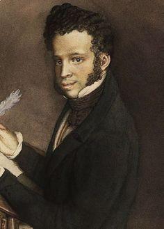 Konstantin Andreyevich Somov - Portrait of Alexander Pushkin (1899)