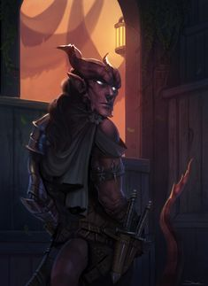 """themagicmissile: """"Arkai the Tiefling by damie-m """""""