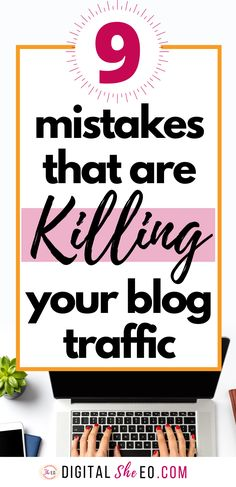 9 best blog tips for beginners to get started right. Ideas for WordPress plugins, posts, and avoiding the blogging mistakes that cost you money and kill your traffic. #bloggingmistakes #bloggingforbeginners #blogtipsforbeginners #blogtipswordpress #startablogtips Blogger Tips, Creating A Blog, Wordpress Plugins, Blogging For Beginners, Along The Way, How To Start A Blog, About Me Blog, Social Media, Business Tips