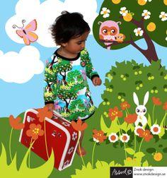 botiga roba jersey sueca  znokdesign+barnkläder, retro, unik, design, tyg, barntyg, Johanna Ahlard, Lotta Bruhn, elefanter, ugglor - znokdesign