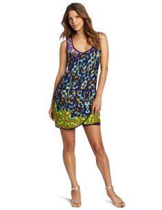 Ali Ro Women's Wrap Skirt Tank Dress, Grape Royal Multi, 12
