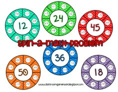 Easy center game for practicing all 4 math operations! Free on The Classroom Game Nook Blog!