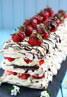 This simple but delicious dessert of Strawberry and Chocolate Meringue is…
