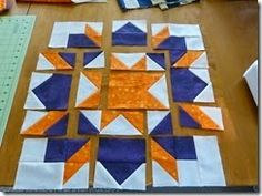 This tutorial is for those of you who have joined the swoon block swap I'm hosting this summer (sorry it's closed now)- but you can alway. 1 n half inch units Big Block Quilts, Star Quilt Blocks, Star Quilts, Quilt Block Patterns, Mini Quilts, Pattern Blocks, Scrappy Quilts, Quilting Tutorials, Quilting Projects
