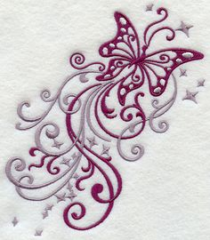 Machine Embroidery Designs at Embroidery Library! - Fluttering Filigree