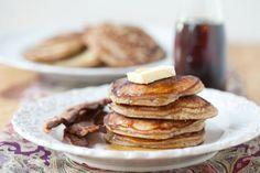 Apple Cider Pancakes Recipe via DeliciouslyOrganic.net #grainfree #recipe