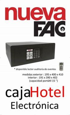 Caja Fuerte Electrónica para HOTEL. Ideal para Hoteles, Hostales y Apartamentos