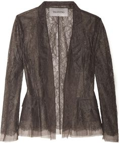 Lace and Tulle Blazer - Lyst