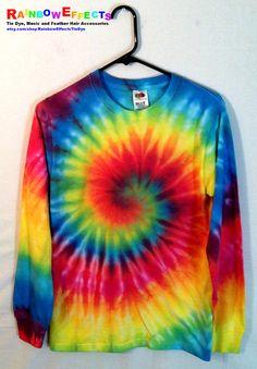 Tie Dye Long Sleeve Tshirt   Rainbow by RainbowEffectsTieDye, $20.00