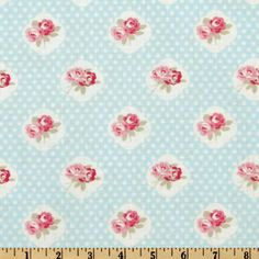 Petal Sweetie Rose Blue from @fabricdotcom  Designed by Tanya Whelan for Free Spirit Fabrics, this cotton print is perfect for quilting and craft projects as well as apparel and home décor accents. Colors include white, pink, and light blue.