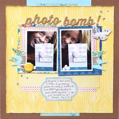 A layout by Nathalie using the April Main and Embellishment kits.