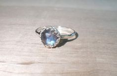 Labradorite Ring Silver labradorite ring Gemstone by AWildViolet