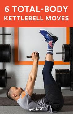 Work all of your major muscles in less than 30 minutes with this routine. kettlebell-workout-exercises-to-build-total-body-strength. Fitness Workouts, 7 Workout, Fitness Motivation, Fitness Tips, Workout Exercises, Workout Routines, Total Body Workouts, Body Exercises, Fitness Challenges