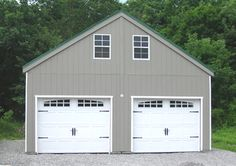 Double wide Prefab Garage- From Horizon Structures- can be delivered nationwide. See video! Prefab Garage Kits, Metal Garage Kits, Buy A Garage, Prefab Garages, Metal Garages, Prefabricated Houses, Garage Plans, Prefab Homes