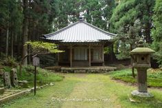 """Good morning, its a bright and sunny day here in Kyoto, albeit a little cool in the morning! This is: Eryo-do (恵亮堂) on the steps leading to the Shaka-do (釈迦堂), part of the Sai-tō (西塔, """"West Pagoda"""") complex of Enryaku-ji Temple (延暦寺) on Mt.Hiei zan (比叡山) in Ōtsu, Japan. This small hall was built in honour of priest Eryo (800-859 AD), he was widely know for his great spiritual belief and power. He commissioned some famous buildings, amongst them, the Sanjusangendo in Kyoto."""