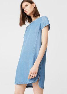 Джинсовое платье из лиоцелла