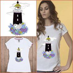 Faro | Design by Berenice la Ruche Wear it on Tee for 24.90€! http://shop.yeseya.it/prodotto/535/faro.html