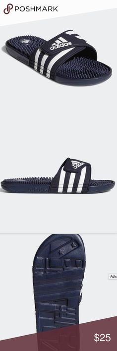 the latest 4f773 d9fe5 Adissage navy blue slides -new with tags -size 7 in men, but fits size in  women s adidas Shoes Sandals   Flip-Flops