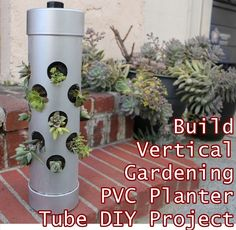Build Vertical Gardening PVC Planter Tube DIY Project Homesteading  - The Homestead Survival .Com