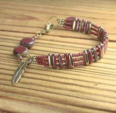 BRACELET with MATCHING NECKLACE and Earrings Available Red, Ivory, Brass by toggletails on Etsy